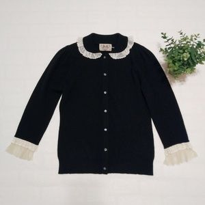 Juicy Couture 100% Cashmere Lace Peter Pan Collar